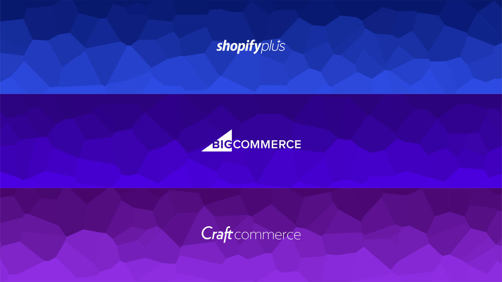 Shopify vs big commmerce vs craft commerce