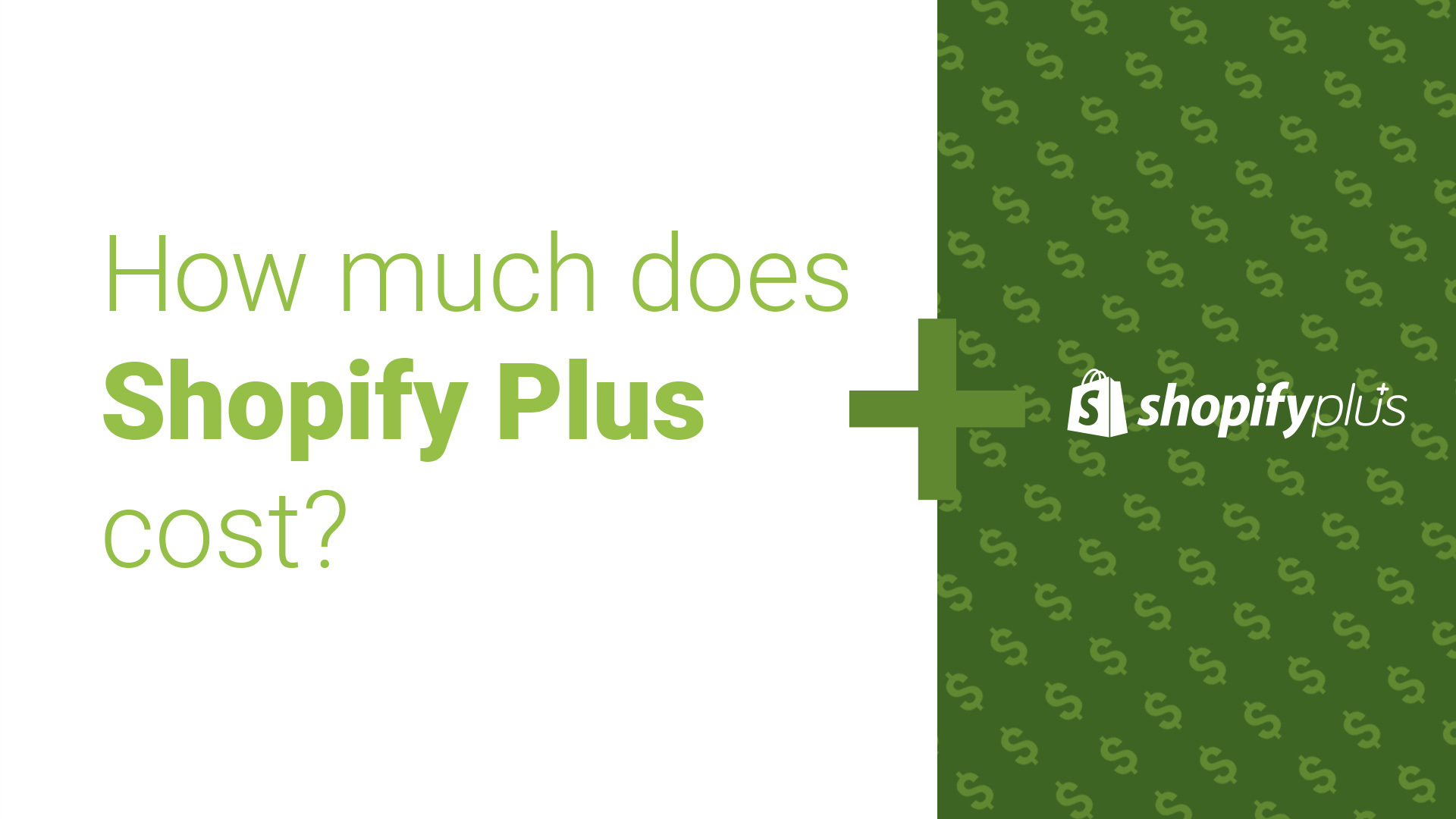 How Much Does Shopify Plus Cost?