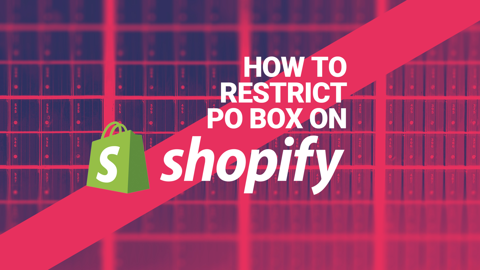 how to restrict po box as address on shopify