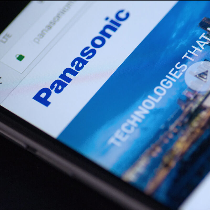 Panasonic WordPress Website Build